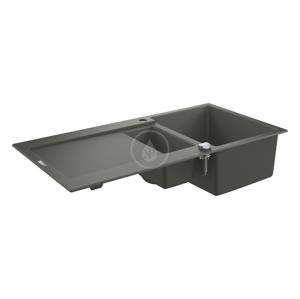 GROHE Dřezy Kompozitní dřez K500 s automatickým odtokem, 1000x500 mm, granitová šedá 31646AT0