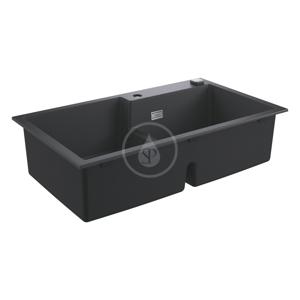 GROHE Dřezy Kompozitní dřez K500 s automatickým odtokem, 860x500 mm, granitová černá 31649AP0