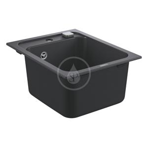 GROHE Dřezy Kompozitní dřez K700 s automatickým odtokem, 400x500 mm, granitová černá 31650AP0