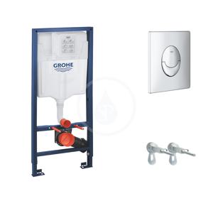 GROHE Rapid SL Předstěnový instalační set pro závěsné WC, výška 1,13 m, ovládací tlačítko Skate Air, chrom 38721001