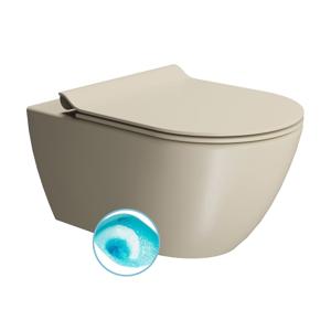GSI PURA závěsná WC mísa, Swirlflush, 55x36 cm, creta dual-mat 881508
