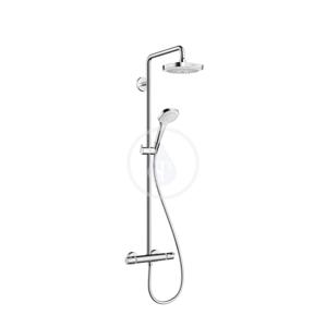 HANSGROHE Croma Select E Sprchový set Showerpipe 180 s termostatem, 2 proudy EcoSmart 9 l/min, bílá/chrom 27257400