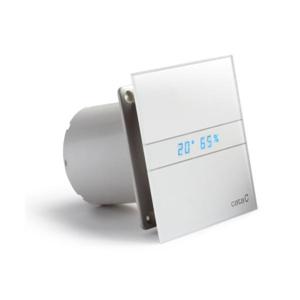HOPA Axiální ventilátory na zeď či do stropu E100 GTH, HYGRO, s časovačem, sklo bílé CATA00900200