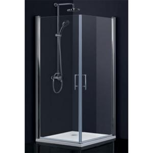 HOPA Obdélníkový a čtvercový sprchový kout SINTRA Hliník chrom, 195 cm, 80 cm × 80 cm, Univerzální, Frost bezpečnostní sklo 6 mm BCMADE280CFL+BCMADE280CFP