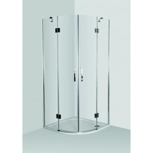 HOPA Set VIVEIRO NEW s vaničkou z litého mramoru Univerzální, Hliník chrom, Čiré bezpečnostní sklo 6 mm, 90 cm, 90 cm OLBVIVP90CCLM