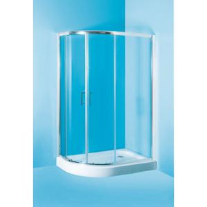 HOPA Sprchový asymetrický kout s vaničkou IBIZA II 197 cm, 120 cm × 80 cm, Levé (SX), Hliník chrom, Čiré bezpečnostní sklo 5 mm OLBIBI212L