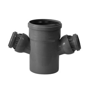 HT odbočka dvojitá HTDA 110/50/50 s klouby Plast BRNO COKA556 COKA556