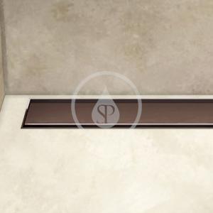 I-Drain Plano Nerezový sprchový rošt, délka 1100 mm, povrch PVD, čokoládová IDRO1100C
