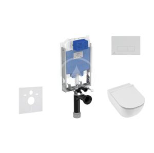 IDEAL STANDARD ProSys Set předstěnové instalace, klozetu a sedátka Mio, tlačítka Oleas M2, Rimless, Slowclose, Antibak, bílá ProSys80M SP139