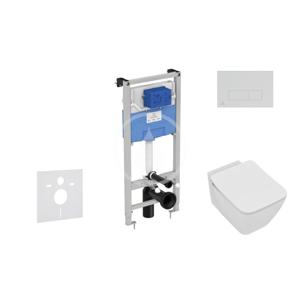 IDEAL STANDARD ProSys Set předstěnové instalace, klozetu a sedátka Strada II, tlačítka Oleas M2, Aquablade, SoftClose, bílá ProSys120M SP25