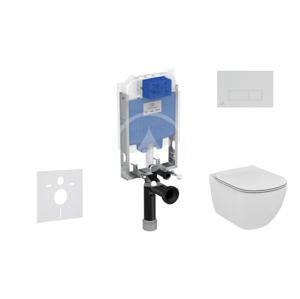 IDEAL STANDARD ProSys Set předstěnové instalace, klozetu a sedátka Tesi, tlačítka Oleas M2, chrom ProSys80M SP87