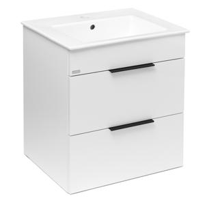 JIKA Cube Skříňka včetně umyvadla, 540x422x622 mm, bílá H4536121763001