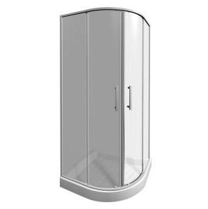 JIKA Lyra Plus sprchový kout 80 čtvrtkruh R550, sklo transparent, v.190 2.5338.1.000.668.1 H2533810006681