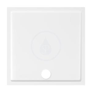 JIKA Padana Sprchová vanička, litý mramor, 800x800x30 mm, bílá H2119310000001