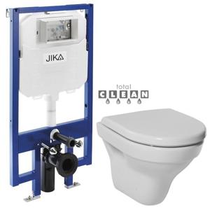 JIKA předstěnový instalační 8 cm systém bez tlačítka + WC JIKA TIGO + SEDÁTKO DURAPLAST H894652 X TI3