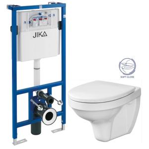 JIKA předstěnový instalační systém bez tlačítka + WC CERSANIT DELFI + SOFT SEDÁTKO H895652 X DE2