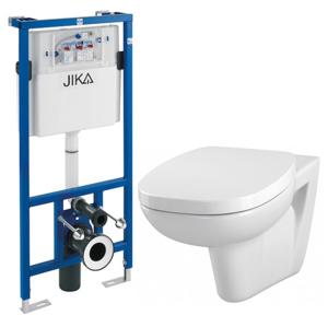 JIKA předstěnový instalační systém bez tlačítka + WC CERSANIT FACILE + SEDÁTKO DURAPLAST H895652 X FA1