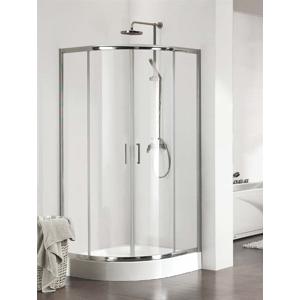KERMI Cada CK čtvrtkruh 80 R550 v.2000 čiré sklo s CadaClean (posuvné dveře) stříbrný CKT5508020VPK CKT5508020VPK
