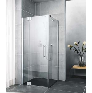 Kermi Kyvné dveře Pasa XP 1WR 11018 1070-1100/1850 stříbrná vys.lesk ESG čiré Clean 1-křídlé kyvné dveře s p. polem pro boční stěnu/zkrácenou boční stěnu PX1WR11018VPK