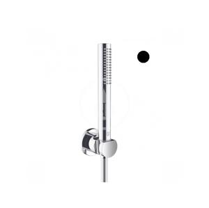 KLUDI Nova Fonte Set sprchové hlavice, držáku a hadice, černá mat 2085039-15