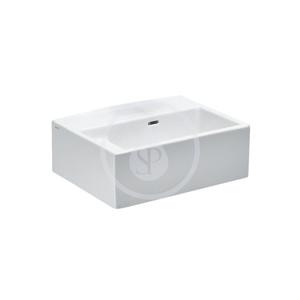 Laufen College Umyvadlo vhodné do škol, 600 x 455 mm, bílá s 1 otvorem pro baterii v ose odpadu, s LCC H8576004005031