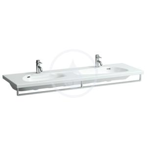 Laufen Palomba Collection Dvojumyvadlo do nábytku, 1600 x 500 mm, bílá bez přepadu, s 1 otvorem pro baterii H8148090001111