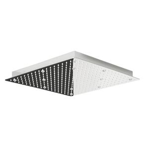 Lorema SLIM hlavová sprcha s RGB LEDosvětlením, čtverec 500x500 mm, nerez MS565-LED