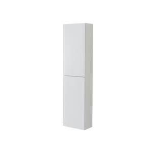 MEREO Aira, koupelnová skříňka, vysoká, levé otevírání, bílá, 400x1570x220 mm CN714L