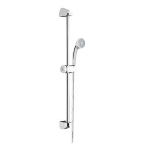 MEREO Sprchová souprava, jednopolohová sprcha, sprchová hadice, nastavitelný držák, plast/chrom CB900Y