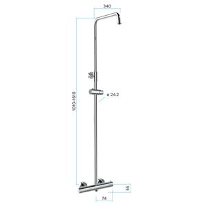 MEREO Termostatická nástěnná sprchová baterie se sprchovou soupravou bez přísluš. (talíř, sprcha, hadice) CB60104TS1