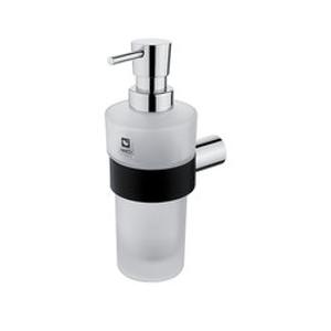 NIMCO Nava Dávkovač tekutého mýdla-pumpička plast chrom,černý mat NA 28031W NA 28031W
