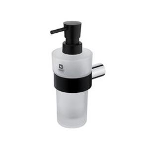 NIMCO Nava ixi Dávkovač tekutého mýdla chrom,černý mat NA 28031W-T-b NA 28031W-T-b