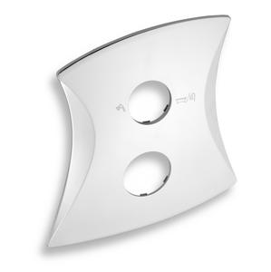 Novaservis Kryt k podomítkovému boxu LINIE s přepínačem, chrom KRYT0050RD,0