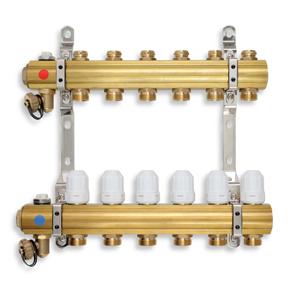 NOVASERVIS Rozdělovač s regulačními, termost. a mech. ventily 8 okruhů RZ08S