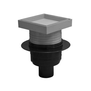 Podlahová vpusť 50 spodní pro vložení dlažby 101x101mm Plast Brno SI5PD00 SI5PD00