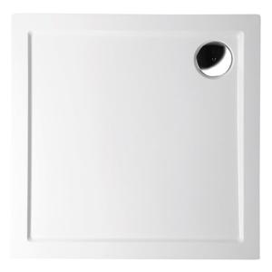 POLYSAN AURA LIGHT sprchová vanička z litého mramoru, čtverec 90x90x3cm, bílá 11221