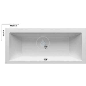 RAVAK Formy 01 Obdélníková vana akrylátová, 1800 x 800 mm, bílá (snowwhite) C881000000