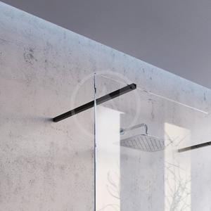 RAVAK Walk-In Sprchový kout Walk-In Corner 120/80, 1200x2000 mm, černá/čiré sklo GW1CG4300Z1