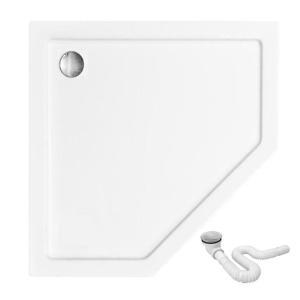 REA Pětiúhelníková sprchová vanička DIAMOND BÍLÁ 80/80 REA-K8544