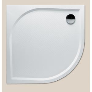RIHO Kolping sprchová vanička 100čtvrtkruh sifon, bílá litý mramor R550 DB1800500000000 DB1800500000000
