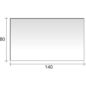 Riho zrcadlo 140x80cm vč. nepřímého LED osvětlení TYP14 F41414008031 F41414008031