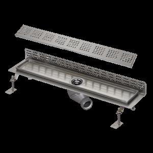 Sanela SLKN 08FX Nerezový koupelnový žlábek ke stěně, délka 1150 mm, matný SL 68086