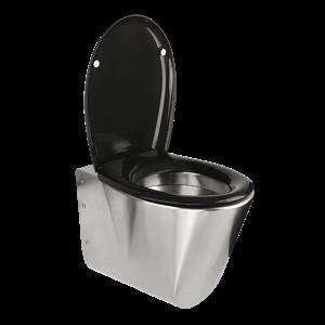 Sanela SLWN 04 Antivandalové nerezové závěsné WC BEZ sedátka, montáž pomocí montážní desky a přes speciální šrouby, matné SL 94040