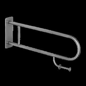 Sanela SLZM 03DP Nerezové madlo pevné s držákem toaletního papíru, délka 900 mm, povrch lesklý SL 49038