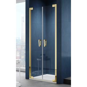 SanSwiss CADURA Dvoukřídlé dveře 1000/2000mm zlatá/čiré CA2C1001207 CA2C1001207