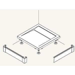 SanSwiss ILA Hliníkový panel pro obdél. vaničkuL panel ,1400/900/95,04-bílá PWIL09014004