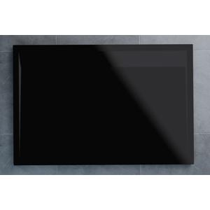 SanSwiss ILA sprchová vanička,obdélník 120x80x3,5 cm, černý granit-kryt černý matný, 1200/800/35 WIA8012006154