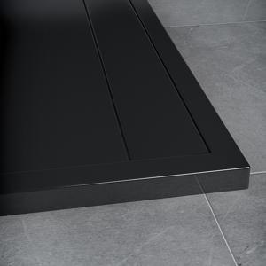 SanSwiss ILA sprchová vanička,obdélník 160x90x3,5 cm, černý granit-kryt černý matný, 1600/900/35 WIA9016006154