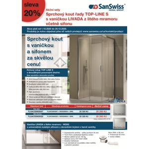 Sanswiss TOP-LINE S TLSACS0905022 set sprchového koutu s rohovým vstuperm a vaničky Livada TLSACS0905022