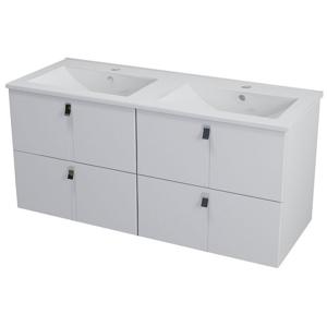 SAPHO MITRA umyvadlová skříňka s umyvadlem 150x55x46 cm, bílá 2XMT0711601-150